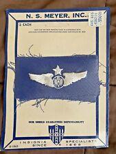 Vtg 1963 Vietnam Era US Air Force Embroidered Wings Sealed  N.S.Meyer Inc