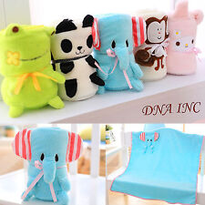 NEW Cute Soft Kids Baby Animal Plush Blanket 40