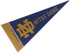 Notre Dame Fighting Irish NCAA Mini Pennat 9X4 Inch, Felt, Made in USA, Flag