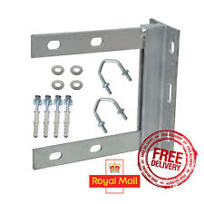 """PAINTED - 6"""" x 6"""" INCH TV WALL BRACKET MOUNT + COACH BOLTS + 1.75"""" V BOLTS"""