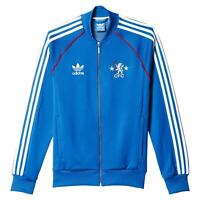adidas ORIGINALS MEN'S CHELSEA FC SUPERSTAR TRACK JACKET TOP BLUE CFC RETRO NEW
