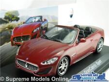 MASERATI GRANCABRIO SPORT MODEL CAR 1:43 SCALE BURGUNDY IXO ALTAYA CABRIOLET K8Q
