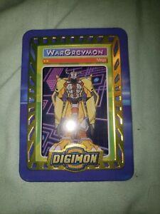 Digimon Taco Bell Promo Tin Metal Card  WarGreymon