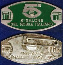 Spilla Badge 5° Salone del Mobile Italiano con smalti #C316