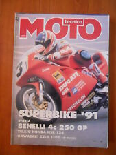 MOTO TECNICA n°4 1991 Storia Benelli 4C 250 GP Kawasaki ZZ-R 1100   [P74]