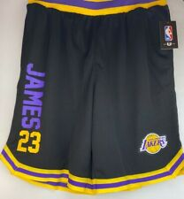 Lebron James Los Angeles Lakers NBA Basketball Shorts Men's Size LG/SM Black