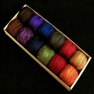 Valdani Perle Cotton Size 8 Embroidery Thread Bigsby Designs Dark Sampler Set