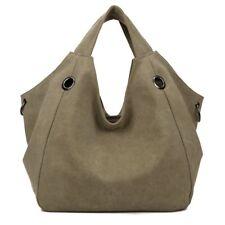 Women Solid Shoulder Bag Fashion Casual Canvas Hobos Large Capacity Handbags