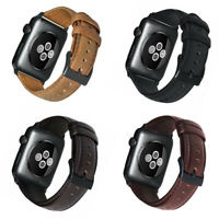 Genuine Leather Apple Watch Band Strap iWatch Series SE 6 5 4 3 2 44 42 38 40mm