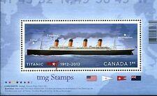 Canada 2012 Titanic Souvenir Sheet MNH