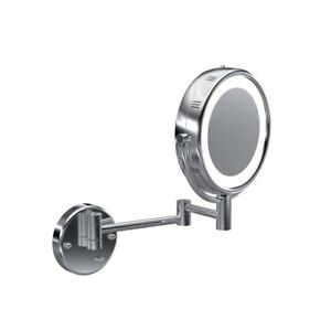 Wall mount Echo E2-H Magnified 5X reversible lighted mirror with double arm.