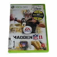 Madden NFL 11 (Microsoft Xbox 360, 2010) Complete w/Manual