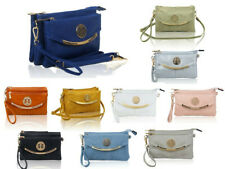 Woman Multi Compartments Small PU Leather Crossbody Purse Bag Messenger Handbag