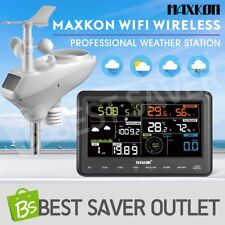 Weather Station Wifi Wireless Professional Forecast Outdoor Solar Panel w/APP