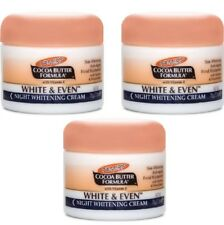 3 x Palmers Cocoa Butter White & Even Night Whitening Cream 100% Brand New