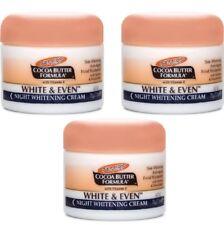 3 x Palmers Cocoa Butter White & Even Night Whitening Cream 100% Brand New