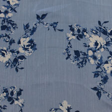 "Multicolor Flower Print 58"" Floral Printed Yoryu Chiffon Fabric"