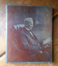 "Antique Copper Plate & Wood ""PC Fischer"" Photo Print Block"