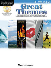 "Instrumental Play-Along-Alto Saxophone ""Great Themes"" Music Book/Cd-Sax-New-Sale"
