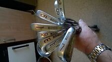 Lot of 6 Hogan Edge Forged Irons inc Exploder Wedge Apex 3 Shafts gc