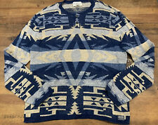 Denim & Supply Ralph Lauren Mens XL Aztec Button Up Southwest Sweater Henley