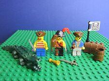 Genuine Lego Vintage Piratas Capitán Minifigura cocodrilo parrot Cutlass Set 471