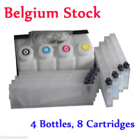 BEL! Roland Bulk Ink System for Roland Mimaki Mutoh --4 Bottles, 8 Cartridge