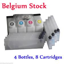 BEL! Roland Bulk Ink System for Roland Mimaki Mutoh --4 Bottles, 8 Cartridge