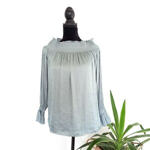 Country Road Soft Blue Peasant Lightweight Top Women's Size 10