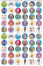 """60 Precut 1"""" Bubble Guppies Bottle cap Images Set 3"""