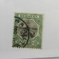 Bermuda Scott #28 sailing ship Θ used, very fine + 102 card, superfleas