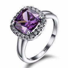 Silver Elegant Fashion Woman Wedding Ring 925 Gemstone Jewelry Gift US Size 6-9