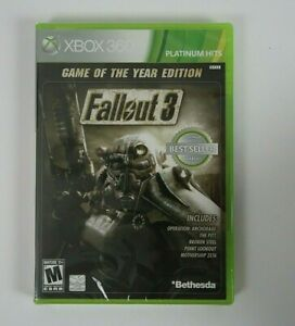 Fallout 3 -- Game of the Year Edition (Microsoft Xbox 360, 2009) *New Sealed