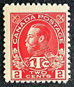 Canadian Stamp, Scott MR3 2c + 1c War Tax 1916 Adm Scott F M/NH. Beautiful gum.