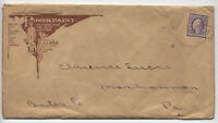 1910 3ct WF merchandise sample advertising paint cover Adams NY [L.277]