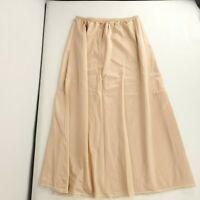 Vintage 60s Nylon Half Slip S Beige Nude Belle Fleur