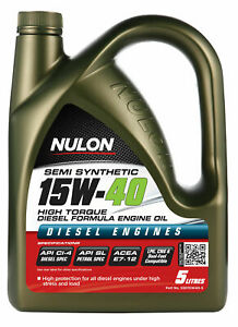 Nulon Semi Synthetic Diesel Engine Oil 15W-40 5L SSD15W40-5 fits Toyota Dyna ...