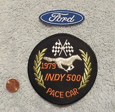 1979 FORD MUSTANG INDY 500 PACE CAR PATCH -  DEALER ORIGINAL WITH FORD OVAL