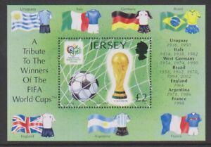 Jersey - 2006, Coupe Du Monde de Football Feuille - MNH - Sg MS1274