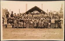 Rppc Doubleday Real Photo Postcard ~ Seminole Indians Florida Everglades