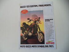 advertising Pubblicità 1986 MOTO GUZZI 125 CUSTOM