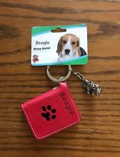 Little Gifts Dog Key Chains With Picture Wallets / Beagle Dog Charm