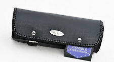 MOTORCYCLE TOOL ROLL BAG NEW, 100% COWHIDE LEATHER MOD.RA2635 BLACK PLAIN