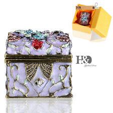 Handmade Crystal Metal Music Box Trinket Boxes Figurines Jewelry Wedding Gifts