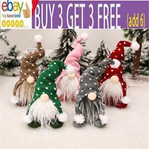 Christmas Gnomes Plush Santa Doll Xmas Gonk Dwarf Elf Decor Gifts Ornaments da