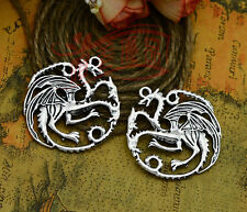 10 Pcs Game Of Thrones Daenerys Targaryen Dragon Pendants Jewelry Making