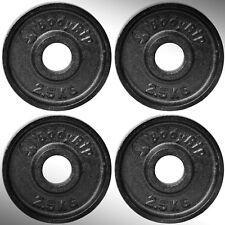 hierro fundido Placas Para Pesas 4x 2.5kg Ajustada 5.1cm Olímpico barras