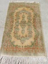 3x5ft. Persian Kirman Ivory Wool Rug