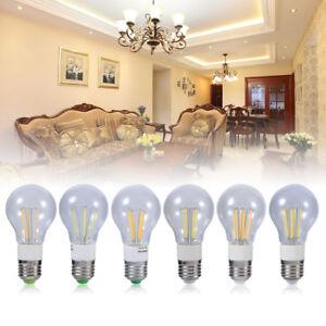 360° E27 12V LED 3W/4W/6W COB Lampadina a filamento Luce Bulbo Lampada