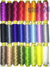 24x Colour Polyester Cotton Thread Set Reel Spool Quality Hand Sewing Yarn Pure
